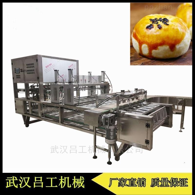 5口盒装蛋黄酥片膜封口机全自动作业