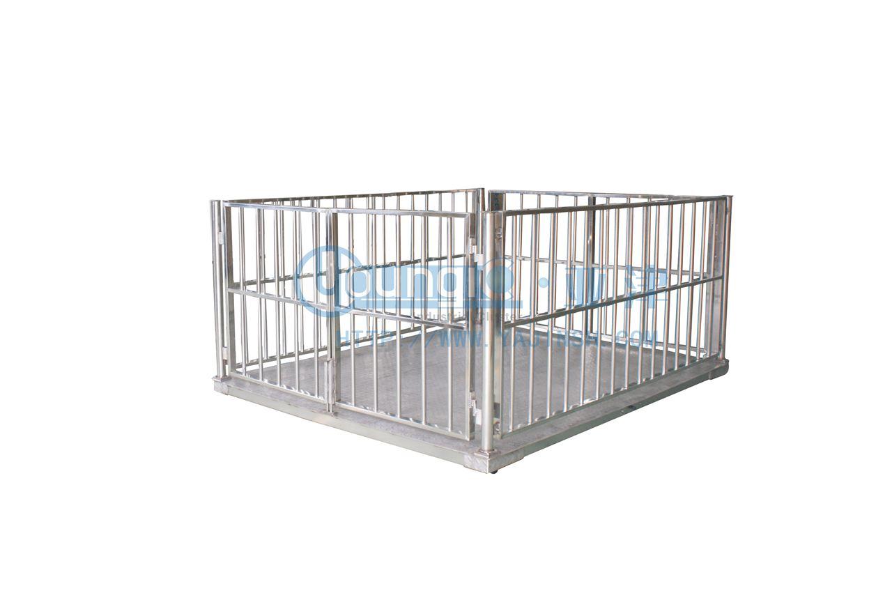 供应上海不锈钢动物专用地磅秤 牲畜秤使用方法