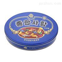 椭圆形糖果铁盒礼盒包装_糖果马口铁盒包装